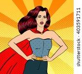 super woman. female hero....   Shutterstock .eps vector #403591711