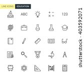 vector education line icons | Shutterstock .eps vector #403592071