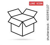 line icon  open box | Shutterstock .eps vector #403595137