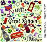 great britain line art design... | Shutterstock .eps vector #403597699