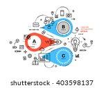 flat style  thin line art... | Shutterstock .eps vector #403598137