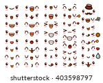collection of cute lovely... | Shutterstock .eps vector #403598797