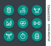 fitness line icons  thick... | Shutterstock .eps vector #403599901