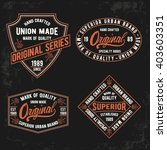 vintage typography set  t shirt ... | Shutterstock .eps vector #403603351