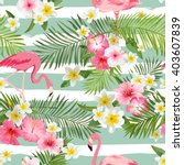 flamingo background. tropical... | Shutterstock .eps vector #403607839