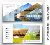set of annual report business...   Shutterstock .eps vector #403609054