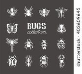 bugs and beetles vector set.... | Shutterstock .eps vector #403609645