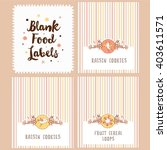 collection of blank food labels.... | Shutterstock .eps vector #403611571