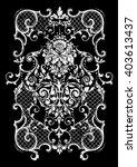 vintage baroque border flower... | Shutterstock .eps vector #403613437