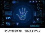 futuristic hand scan identify... | Shutterstock .eps vector #403614919