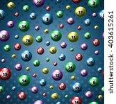lottery balls pattern...   Shutterstock .eps vector #403615261