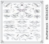 calligraphic decorative design... | Shutterstock .eps vector #403616521
