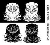 eagle or hawk head icon. black... | Shutterstock .eps vector #403617055