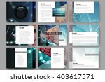 set of 9 vector templates for... | Shutterstock .eps vector #403617571