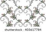 vintage pattern in baroque... | Shutterstock .eps vector #403617784