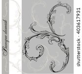 isolated baroque elements ... | Shutterstock .eps vector #403617931
