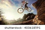 sport. biker jumps | Shutterstock . vector #403618591