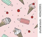 ice cream sketch vector... | Shutterstock .eps vector #403620001