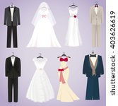 wedding dresses and costumes  | Shutterstock .eps vector #403626619