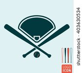 baseball icon. vector... | Shutterstock .eps vector #403630534