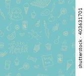 sketch doodle food elements... | Shutterstock . vector #403631701