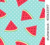 watermelon seamless pattern... | Shutterstock .eps vector #403633597