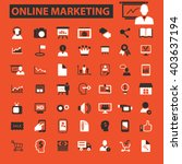 online marketing icons  | Shutterstock .eps vector #403637194