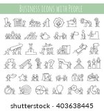 business icons set of sketch... | Shutterstock .eps vector #403638445
