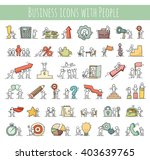 business icons set of sketch... | Shutterstock .eps vector #403639765