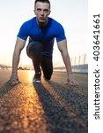 portrait of a sports man in... | Shutterstock . vector #403641661