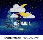 sleep apnea insomnia sleep... | Shutterstock . vector #403642399
