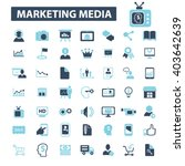 marketing media icons  | Shutterstock .eps vector #403642639
