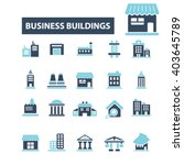 business buildings icons  | Shutterstock .eps vector #403645789