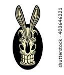 el burro dia de los muertos... | Shutterstock .eps vector #403646221