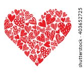 big heart made of small hearts... | Shutterstock .eps vector #403652725