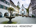 main square in feldkirch ... | Shutterstock . vector #403653967