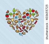nutritive food design  | Shutterstock .eps vector #403655725