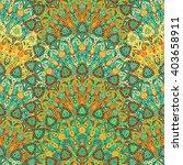 Round Mandala Seamless Pattern...