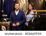 confident handsome man with... | Shutterstock . vector #403665934