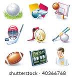 vector cartoon style icon set.... | Shutterstock .eps vector #40366768