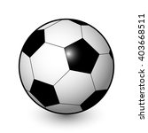 vector realistic soccer ball in ... | Shutterstock .eps vector #403668511