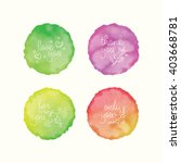 vector watercolor stains and... | Shutterstock .eps vector #403668781