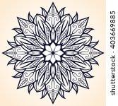 flower mandala. ethnic pattern. ... | Shutterstock .eps vector #403669885