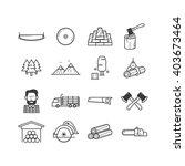 lumberjack   woodcutter icon set   Shutterstock .eps vector #403673464