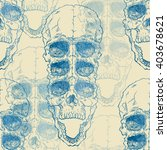 terrible frightening seamless... | Shutterstock . vector #403678621