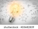light bulb with drawing graph | Shutterstock . vector #403682839
