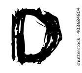 the letter d. grunge ink...   Shutterstock .eps vector #403684804
