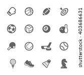 simple set of sport equipment... | Shutterstock .eps vector #403686631