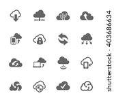 simple set of computer cloud... | Shutterstock .eps vector #403686634