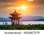 ancient pavilion of hangzhou... | Shutterstock . vector #403687279